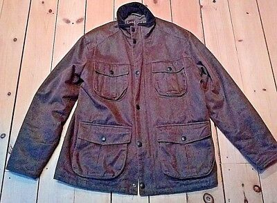 Barbour weatherd worked utility jacket size L