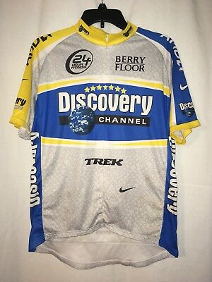 ca699da3c Nike Team Discovery Channel Gray Blue Cycling Jersey Bicycle Made In Italy  XL
