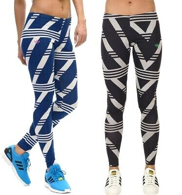 cde07c848f937 Adidas Trefoil 3-Stripes Leggings Damen Long Tight Firebird Hose Logo Pant  Women