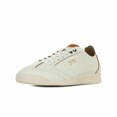 439ba2875e47a9 KICKERS KICK 18 Blanc Baskets Chaussures Homme Sneakers White Leather