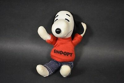 "VINTAGE 7"" Inch Determined Productions Peanuts Snoopy Cloth Doll Copr 1958, 1968"