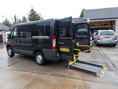 Wheelchair Accessible Wav Disabled Peugeot Boxer 333 Swb Rear Ricon Lift 4 Seats