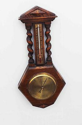 Barometer oak with barley twist column's