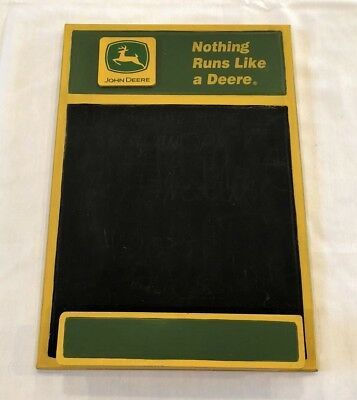 John Deere Green & Yellow Wooden Wall Hanging CHALKBOARD 17'' x 11.25""