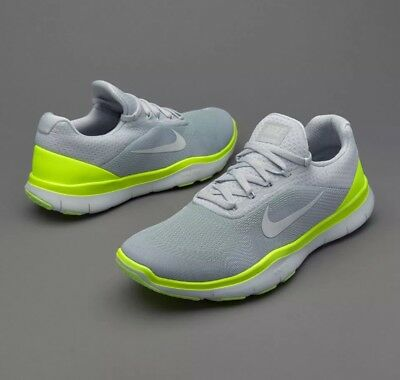 wholesale dealer ed0ee 8499f Nike Mens Free Trainer V7 Platinum White volt size 8.5 M US 893