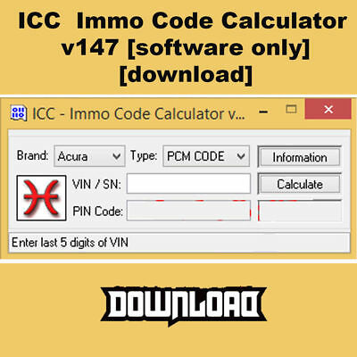 ICC Immo Code Calculator v147 [software only][download]