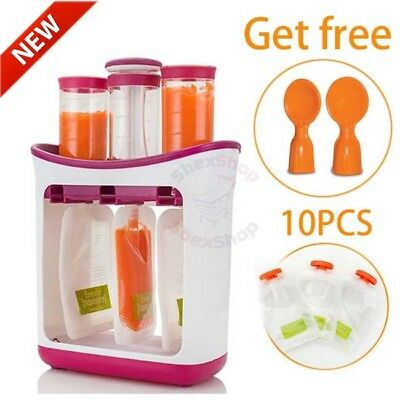 Squeeze Food Station Baby Infant Food Maker Feeding Containers Storage Pouches