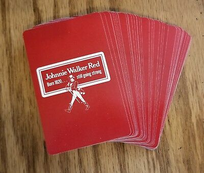 Johnnie Walker Red Label Playing Cards NEW