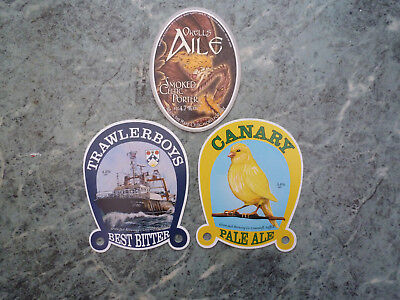 Green Jack Brewing Co Canary Trawlerboys Okells Aile Beer Pump Clip Fronts X 3