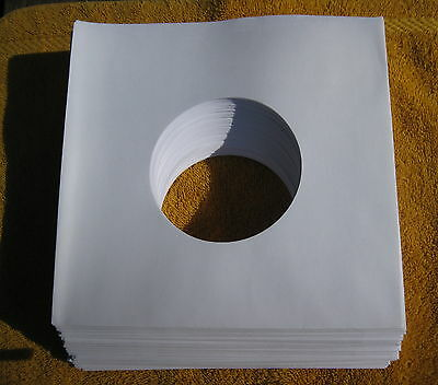 """New  100 White 20LB Paper 7"""" 45RPM  Record Sleeves"""