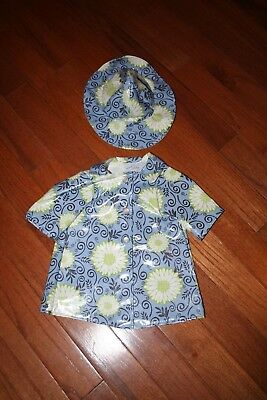 Dress Outfit fits 18 inch American Girl Dolls  Rain Coat with Hat