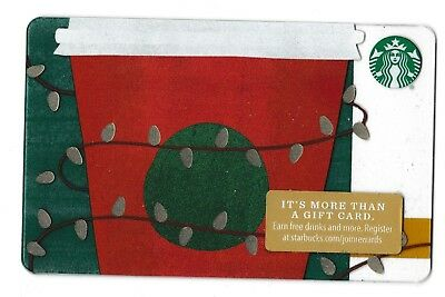 Starbucks collectible gift card no value mint #151 Christmas Coffee Cup