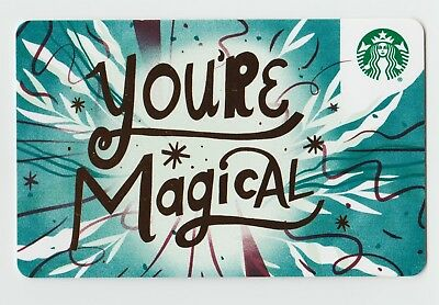 Starbucks collectible gift card no value mint #181 You're Magical