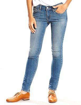 $95 NEW LEVI'S 711 Women's BLUE JEANS SKINNY FIT STRETCH DENIM PANTS SIZE 29