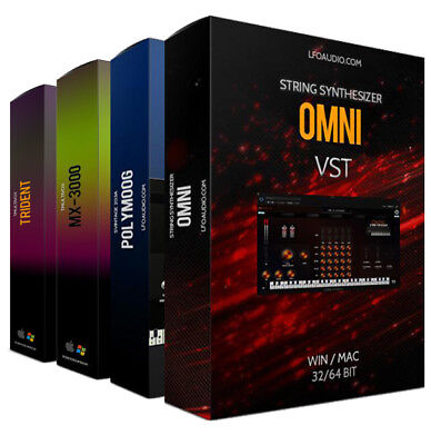 VINTAGE BUNDLE PACKAGE VST Plug-in AU OMNI MULTIVOX POLYMOOG TRIDENT SOUNDS