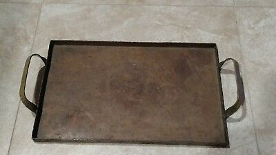 1930s Vintage Cassell Hammered Copper SERVING TRAY Arts & Crafts Erich Weber Ind