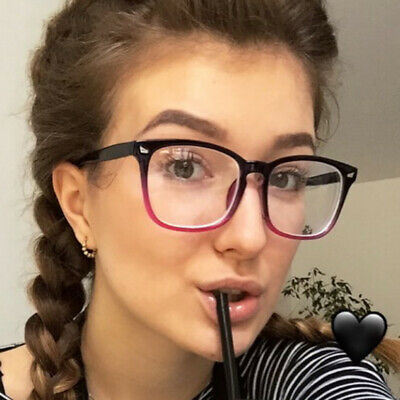 Blue Light Filter Block UV Transparent Lens  Computer Glasses Anti-glare L1