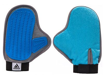 Anoma 2-in-1 Pet Glove: Grooming Tool + Furniture Pet Hair Remover Mitt, Dog/Cat