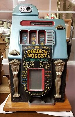 Vintage Mills Golden Nugget 25 Cent Slot Machine