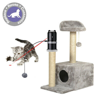 Laser Topper Electronic Motion Cat Toys Add To Scratching Post For Kitten Puppy
