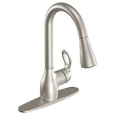 Moen CA87011SRS Single Handle Kitchen Faucet with Pullout Spray from the Kleo...