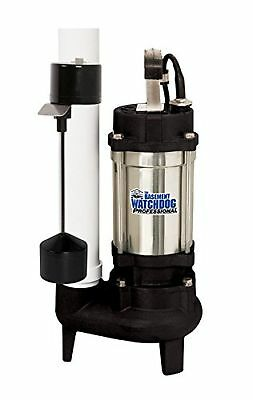 Basement Watchdog Sw-50v Submersible Sewage Pump, Stainless Steel