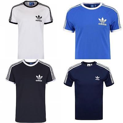 Men Adidas Originals California Retro Crew Neck Short Sleeve T-Shirt