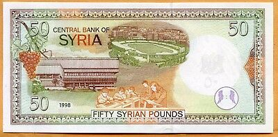 Uncirculated 1998 Syria 50 Pound Note. Lot #2373