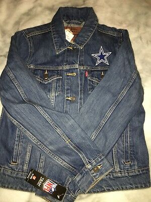"""Dallas Cowboys Levi's Jacket Denim NFL """"SOLD OUT ONLINE"""" New with Tags"""