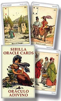 Sibilla Oracle Deck Cards Lenormand Lo Scarabeo Cartomacy Magick *CAT-atude