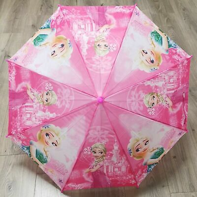 Frozen Umbrella with Whistle Boys and Girls Kids Umbrella Kids Gift - Pink
