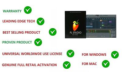Fl Studio 20 Fruity Loops Edition Music Software Retail Windows & Mac License