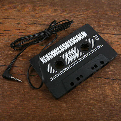 AU Car Audio Cassette to MP3 CD MD Phone Tape Adapter Converter 3.5mm Plastic