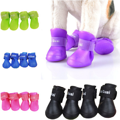 Pet Shoes Booties Rubber Dog Waterproof Anti-slip Rain Boots for Small Big Dog