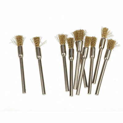 15pcs 5mm Dia Brass Wire Wheel Brush Cup For Grinder Drill Rust Weld Rotary Tool