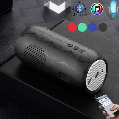 Portable Wireless Bluetooth Stereo SD Card FM Speaker For Smartphone Tablet HOT