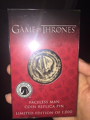2017 SDCC Dark Horse Game of Thrones Faceless Man Coin Replica Pin Limited Ed.