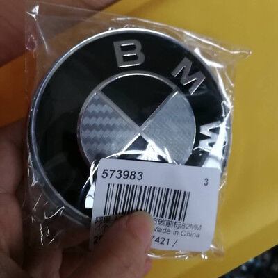 For  BMW Car Emblem Chrome Front Badge Logo 82mm 2 Pins For BMW Hood/Trunk