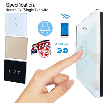 1/2/3 Gang LED Light Touch Switch Tempered Glass Panel Wall Screen Smart Wifi UK