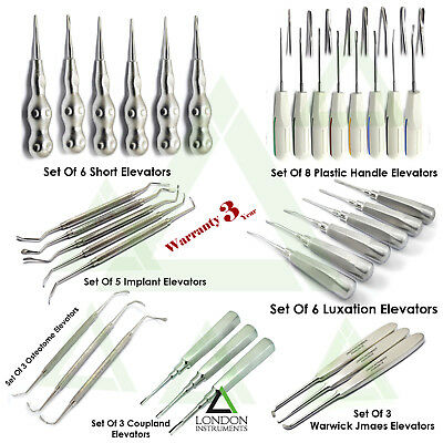 Dental Luxating Elevators Root Extracting Oral Surgery Tooth Loosening Tools