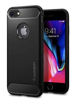 Spigen Black Rugged Armor Case for Apple iPhone 7/8