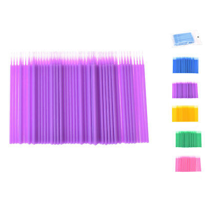 100Pcs Eyelash Micro Swabs Use Eyelash Extensions Applicator Brush Make Up Tools