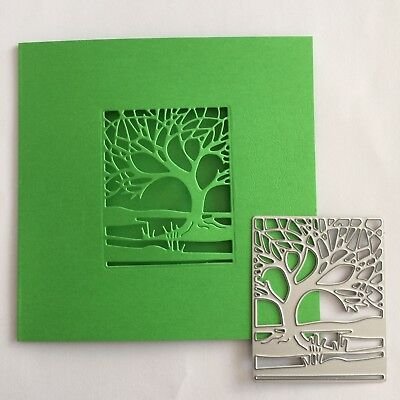 Metal Cutting Die Suitable for Sizzix Cuttlebug machines - Small Tree 7 x 5.7 cm