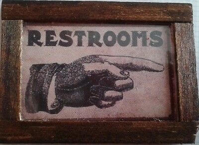 Dolls House Rest rooms sign