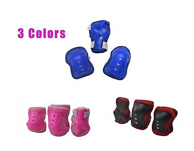 Child Kids Outdoor Sports Protective Safety Gear Knee Elbow Wrist Pad Cycling