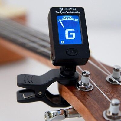 LCD Clip-on Guitar Tuner Violin Ukulele Mandolin Chromatic Bass Oud LCD Y3X0N