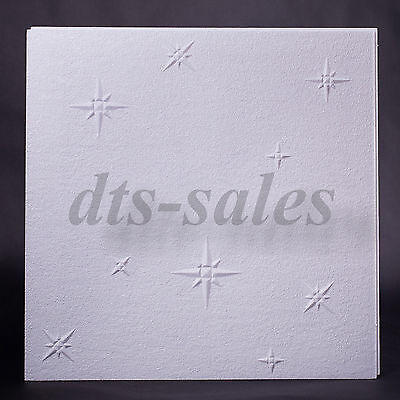 "Ceiling Tiles ""WINTER"" 2m² (8 tiles) Fire resistant polystyrene 50cm x 50cm"