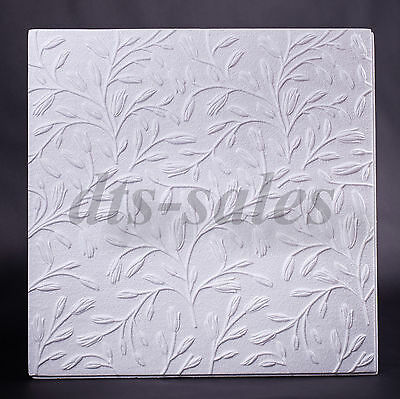 "Ceiling Tiles ""SPRING"" (24 tiles,6m²,3packs) 50cmx50cm Fire resistant"
