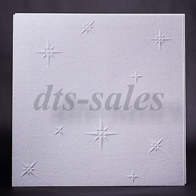 "Ceiling Tiles ""WINTER"" (24 tiles,6m²,3packs) 50cmx50cm Fire resistant"