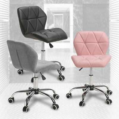 Cushioned  Adjustable Computer Desk Office Chair 360° Swivel Chrome Legs Lift